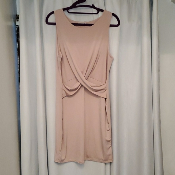 Soprano Dresses & Skirts - Bodycon Stretch Nude Women Dress
